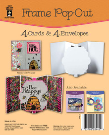 HOTP Frame Pop-Out Card 4 Die-Cut Cards & 4 Envelopes Card Blanks