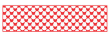 Cheery Lynn Mesh Hearts Border Panel B297 Cutting Die Cut