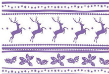 Couture Creations A2 Reindeer Joy Embossing Folder