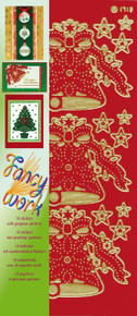 JEJE Fancy Work Christmas Sticker Pack 10 Sheets Stickers Embroidery Peel Outline