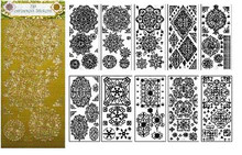 JEJE 3-D Ornament Stickers is a 10-sheet Pack of Beautiful, Detailed Gold Medallion Sticker Pack Peel Outline