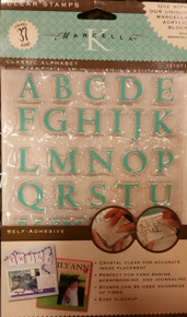Marcella by K Condensed Alphabet Clear Stamps Unmounted 1x.5-inch