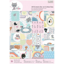 Little Meow Ultimate Die-Cut Pack 48-sheets Create over 80 Cards!