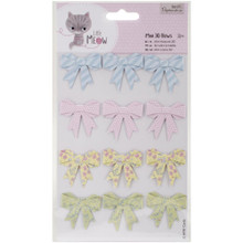 Little Meow Mini 3-D Paper Bows 12pc