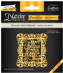 Prestige Follow Your Dreams Decorative Metal Cutting Dies by Crafter's Companion