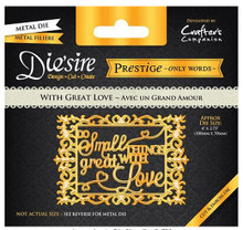 Prestige With Great Love Decorative Metal Cutting Dies by Crafter's Companion