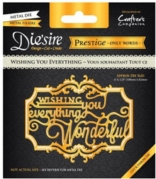 Prestige Wishing You Everything Decorative Metal Cutting Dies by Crafter's Companion
