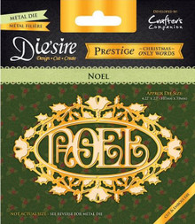 Prestige Christmas Only Words -Noel - Decorative Metal Cutting Dies by Crafter's Companion