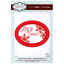 Craft Die CED3022 Sue Wilson Festive Collection - Peeking Snowflake