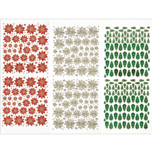 Hot Off The Press Dazzles Stickers, Tiny Poinsettias, 3-Pack