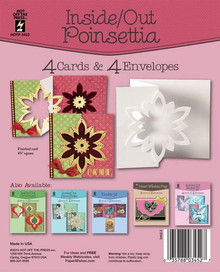 Hot Off The Press - Inside/Out Poinsettia Die-Cut Cards (4-Pack)
