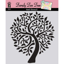 Hot Off The Press - Family Ties Tree Stencil