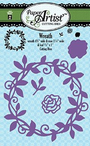 Hot Off the Press Paper Artist Cutting Die Set Wreath 5332