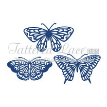 Tattered Lace Butterflies Cutting Die Set D466 3-Die Set