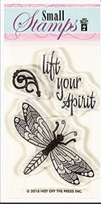 HOTP Clear Stamps Small Zen Dragonfly Acrylic HOTP1203