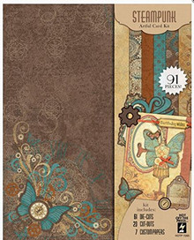 Hot Off The Press Steampunk Artful Card Kit HOTP7285
