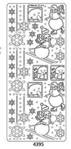 Peel-Offs Marie Eve Snowmen 4395 Silver Peel Stickers