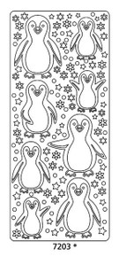 Peel-Offs Marie Eve Penguin 7203 Black Peel Stickers