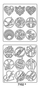 Peel-Offs Seals Various 7102 Gold Text Peel Stickers