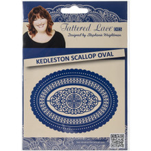 Tattered Lace Kedleston Scallop Oval Tattered Lace Metal Die