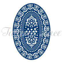 Tattered Lace Victorian Oval Tattered Lace Cutting Die D077