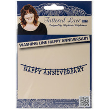 Tattered Lace Washing Line Happy Anniversary Metal Die
