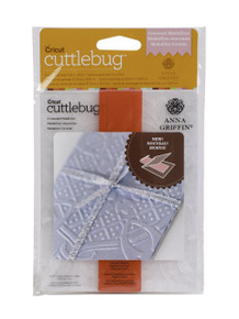 Cuttlebug A2 Embossing Folder and Border, Crowned Medallion