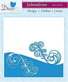 Crafter's Companion Embossalicious Embossing Folder 6x6 Deco Swirl