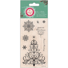 Papermania Bellissima Christmas Mini Clear Stamps 3'X5.5'-