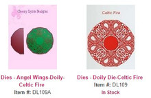 Cheery Lynn Designs DL109 & DL109A Celtic Fire Lace Doily & Angel Wing 2pc