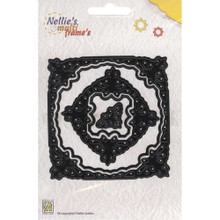 Nellie's Choice Multi Frame Dies- MFD040 Square Butterfly Package Has 5 Dies