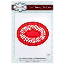 Craft Die CED3021 Sue Wilson Festive Collection - Lattice Snowflake