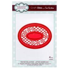 Craft Die CED3021 Sue Wilson Festive Collection - Lattice Snowflake