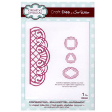 Craft Die CED6303 Sue Wilson Configurations Collection - Scalloped Trellis Ad...