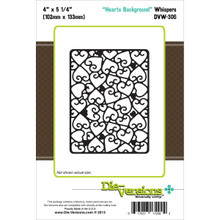 Die-Versions Whispers Die, 4-Inch by 5.25-Inch, Hearts Background DVW-306