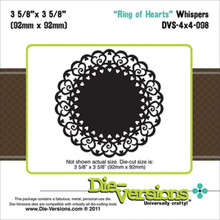 Die-Versions Whispers Ring of Hearts Scrapbooking Die Cuts DVS-4x4-098