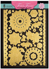 HOTP Foiled Fancies Flowers & Lace HOTP6527 32 Foiled and Embossed Die Cut