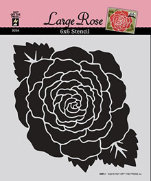 HOTP Large Rose 6x6 Stencil