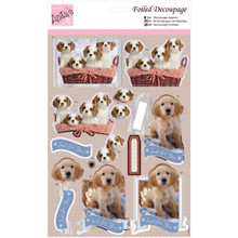 Anita's Foiled & Die-Cut Decoupage 3-D Papier Tole --  Puppy Love 169655 DOGS