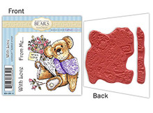 Meadow Cottage Bears With Love Rubber Stamp Set EZMount Christine Haworth