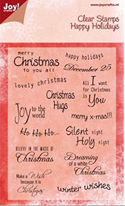 Joy Crafts Happy Holidays Greetings Clear Stamps 6410/0018