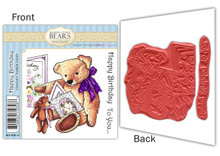 Meadow Cottage Bears Happy Birthday Rubber Stamp Set EZMount Christine Haworth