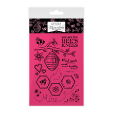 Hunkydory Stylish Silhouettes Wishes on Wings Stamp Set - Bee's Knees