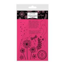 Hunkydory Stylish Silhouettes Wishes on Wings Stamp Set - Floral Wishes