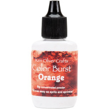 Ken Oliver Crafts Color Burst - Orange - Concentrated Microfine Pigment Powder