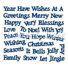 Tattered Lace Christmas Sentiments 2014 Cutting Dies D349