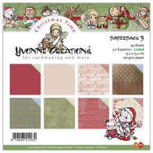 Yvonne Creations - Paper Pack 3 - 6X6 Paper Pack CDPP10001