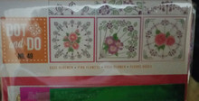 Hobbydots Card Kit - Dot to Dot 49 - Pink Flowers - Makes 3 Cards