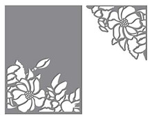 Ultimate Crafts Magnolia Wreath Impression Die, Metal, Black