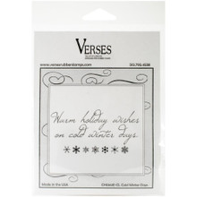 Verses Rubber Stamp - Cold Winter Days - Foam-Mounted Cling Stamp
